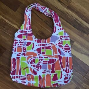 DVF canvas tote , barely used